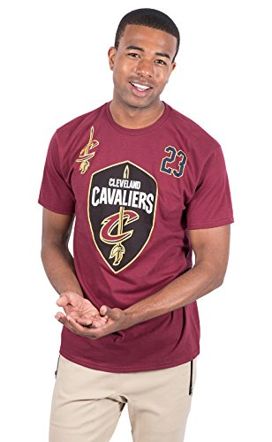NBA Lebron James Cleveland Cavaliers Men's T-Shirt Short Sleeve Tee Shirt, X-Large, ()