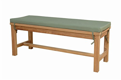 "Anderson Teak Madison Backless Bench, 48"", Linen Straw"