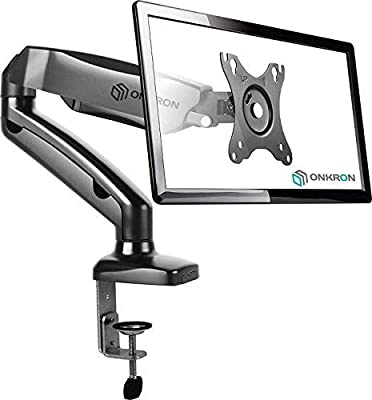 ONKRON Monitor Desk Mount for 13 to 27-Inch LCD LED OLED Screens up to 14.3 lbs G80 Black White