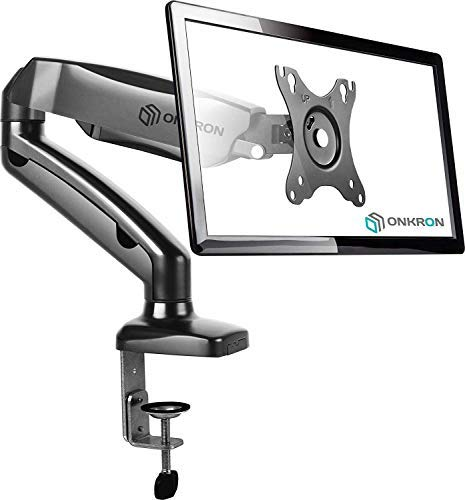 ONKRON Arm Monitor Desktop Mount for 13 to 27-Inch LCD LED Flat Screens up to 14.3 lbs G80 Black