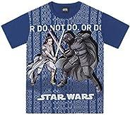 Camiseta Camiseta Star Wars, Fakini, Meninos, Azul Escuro, 4