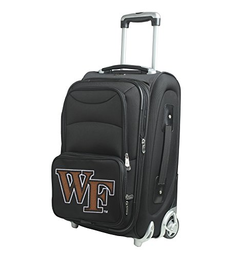 NCAA Wake Forest Demon Deacons In-Line Skate Wheel Carry-On Luggage, 21-Inch, Black by Denco