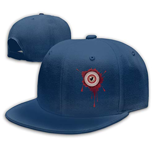 Adjustable Sports Plain Baseball Cap, Halloween Bloody Eyeball Solid Twill Hat, Unisex]()