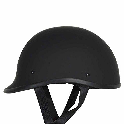 baseball cap under motorcycle helmet rival polo novelty non dot low profile half beanie chopper cruiser biker skid lid large matte black hat style base