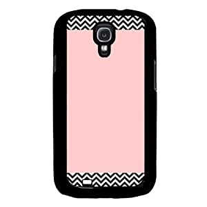Cool Painting Chevron Pattern On Pink Samsung Galaxy S4 I9500 Case Fits Samsung Galaxy S4 I9500