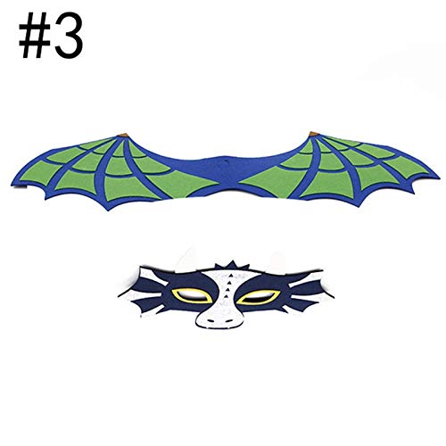 (Party Masks - Special Dinosaur Wing Mask Costume Cosplay With Dragon Masque Animal Halloween Dercoretion Toys - Adults Couples Capes Bulk Male Masquerade Party Wear Headbands Women Masks)