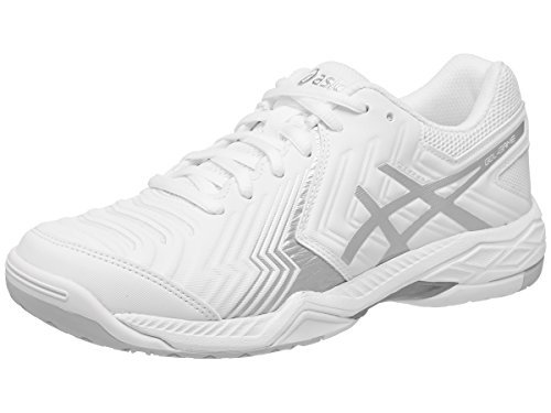 ASICS Women's Gel-Game 6 Tennis Shoe, White/Silver, 7.5 M US (Asics Shoes Tennis Woman)