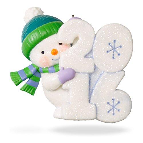 Frosty Fun Decade 2016 Hallmark Ornament 7th In Series Snowm