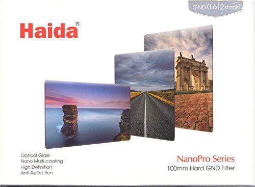 Haida NanoPro 100mm x 150mm MC Hard Grad ND 0.6 Hard 2 Stop Optical Glass Filter 100 ND4 Neutral Density HD3455 by Haida