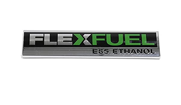 Chrome FlexFuel E85 Ethanol Badge Rear Trunk Emblem
