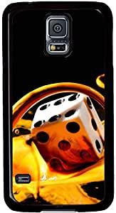 Samsung Galaxy S5 Case Durable Protective Case for Black Cover Skin - Compatible With Samsung Galaxy S5 SV i9600 Milk Dice