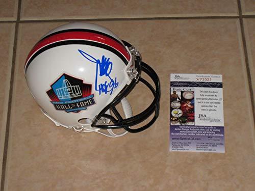 (Joe Gibbs Washington Redskins Autographed Hall of Fame Mini Helmet JSA COA)