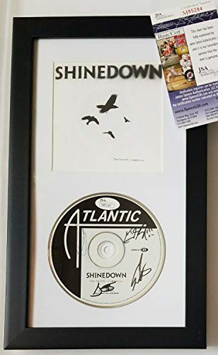 Shinedown Autographed Signed Memorabilia Cd Display JSA Authentic Autographed Signed Memorabilia Framed Rock Music Albuxcm