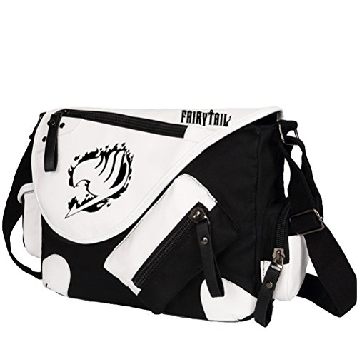 Fairy Tail Bag (YOYOSHome Fairy Tail Anime Natsu Dragneel Cosplay Backpack Messenger Bag Shoulder Bag)
