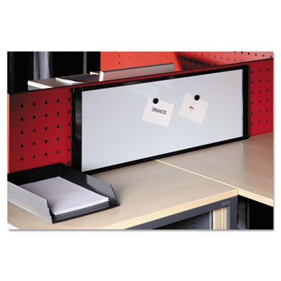 Specially designed to be used with cubicles. - BI-SILQUE VISUAL COMMUNICATION PRODUCTS INC MasterVision Cubicle Workstation, 36x13, Black Aluminum F