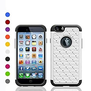 DUR Stars Pattern PC with TPU Combo Shell Hard Cover for iPhone 6(Assorted Colors) , White