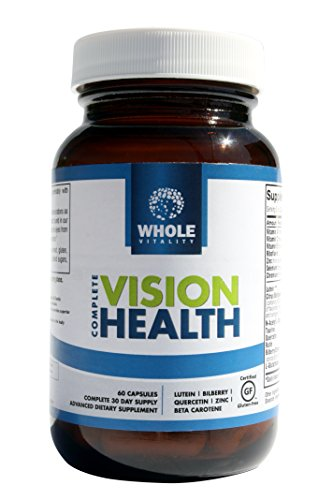 Achever la santé de la Vision, avec FloraGLO® lutéine, vitamines pour les yeux essentielles pour les soins maculaire, 60 Capsules de toute vitalité