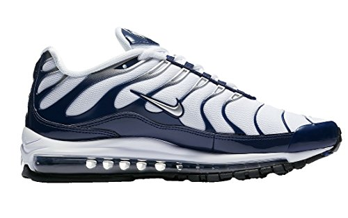 Men's 97 Max Shoes Metallic White Nylon midnight Air Navy Silver Nike Running TqwtddF