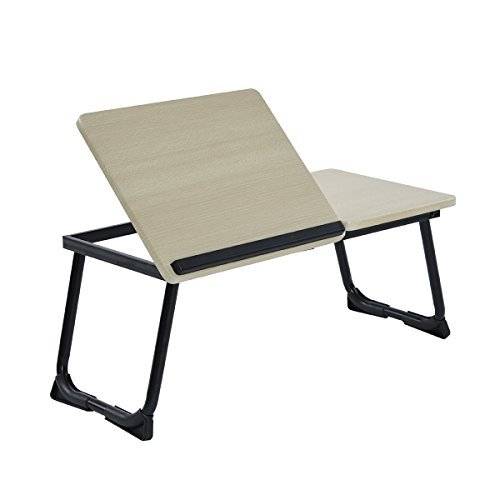 Ihouse Adjustable Laptop Bed Stand,Laptop Bed Tray Table, Standing Table with Foldable Legs, Foldable Lap Tablet Table with Anti-Slip Bar Suits for Ipad Notebook Sofa Couch Floor
