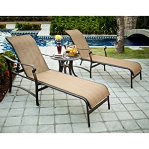 Pool Chaise Patio Outdoor Furniture Set Deck Sundeck Table Chair