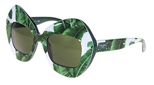 DOLCE & GABBANA 4290 Botanical Garden Banana Leaf Green Sunglasses - Gabbana And Dolce Sunglasses Mirrored
