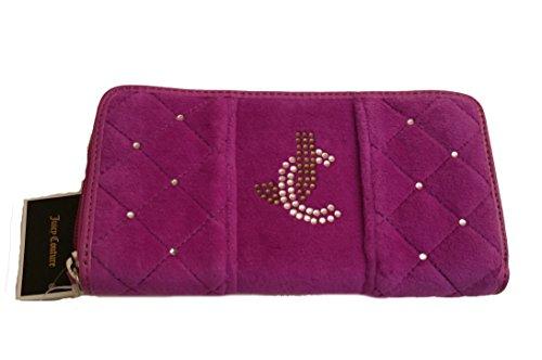 Juicy Couture Velour Purple Pink Clutch Zip - Juicy Couture Velour Zip Wallet