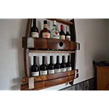 Full Wine barrel wine rack, reclaimed wine barrel, liquor cabinet