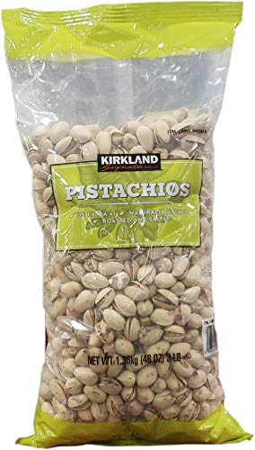 (Kirkland Signature California Dry Roasted & Salted In-Shell Pistachio, 48 Ounce)