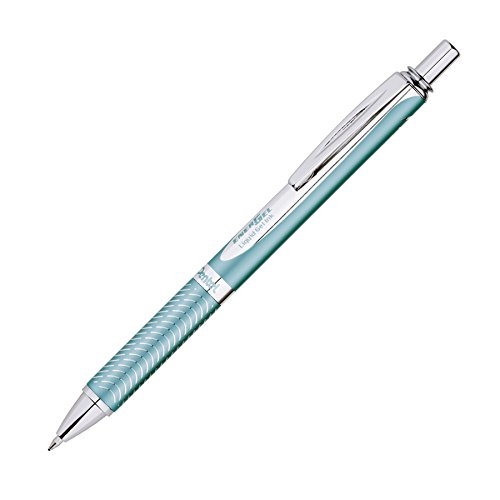 Pentel EnerGel Alloy RT Premium Liquid Gel Pen, 0.7mm, Aquamarine Barrel, Black Ink, 1 Pack (BL407LSBPA) (Pentel Ink Pens)
