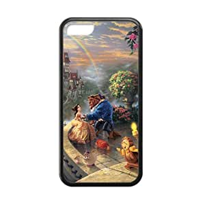 The Beauty and the Beast Cell Phone Protector for iPhone 5C Plastic and TPU (Laser Technology)