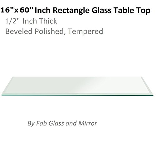 Fab Glass and Mirror T-16x60REC12THBETE Rectangle 16x60 Inch 1/2