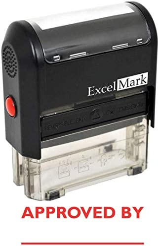 Approved ExcelMark Self Inking Rubber Stamp