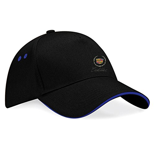 avstickerei Cadillac Embroidered Baseball Caps 100% Cotton - k103 (SW-Blau) ()