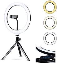 Anel Iluminador LED Flexivel Ring Light Tripe 20cm com Suporte Celular Universal Selfie Youtuber Gravação Foto