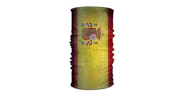 Hombres y mujeres Bandera española Sombreros de piedra Bandanas Pañuelo en la cabeza Bufanda Tubo Mascarilla Diademas Cuello Polaina Pañuelo Balaclava Casco para correr al aire libre Yoga: Amazon.es: Deportes y aire