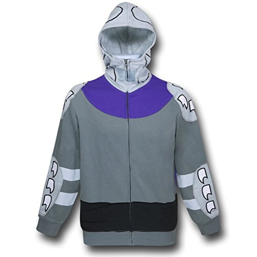 (Teenage Mutant Ninja Turtles Men's TMNT Shredder Hoodie, Silver,)