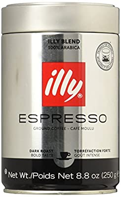 illy Dark Roast Ground Coffee for Espresso Machines