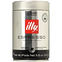 illy Ground Espresso Dark Roast Coffee 8.8oz, (Pack of 2)(Packaging May Vary)