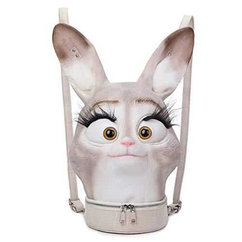 ZJWZ Lindo Lindo Conejo Hombro Bolsa Mujer Creativa Sonriente Bolsa Al Aire Libre Impermeable 3D Mochila Aliexpress Mejor Venta PU Mujeres: Amazon.es: Hogar
