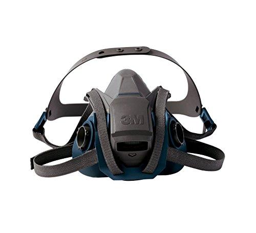 3M 6502QL Rugged Comfort Quick Latch Half Facepiece Reusable Respirator, Medium (Medium Bundle (Mask+ Refills))