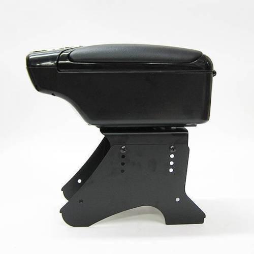 CarJoy 48011 Universal Armrest Central Console Storage Box Black Faux Leather
