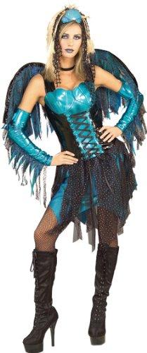 Secret Wishes Women's Enchanting Creature Adult Blue Sea Fairy Costume, Multicolor, X-Small (Sea Creature Costumes)