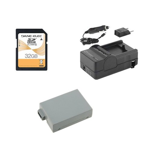 Sdm 1518 Charger (Canon EOS Rebel T5i Digital Camera Accessory Kit includes: SDLPE8 Battery, SDM-1518 Charger, SD32GB Memory Card)