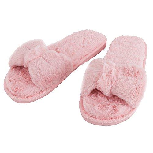 Scarpette Da Bagno Interne Open Toe Per Donna Open Meeshine Sfilate Scivolate Su Scarpe Rosa