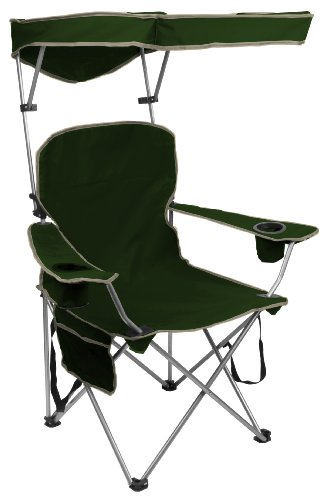 Quik Shade Adjustable Canopy Folding Camp Chair - Forest Green