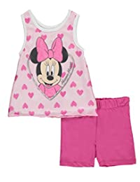 "Minnie Mouse Baby Girls' ""Silky Hearts"" 2-Piece Outfit"