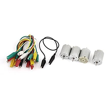 4pcs DC 6V 9000rpm Tipo 280 Mini Motor clipe jacaré Cable w
