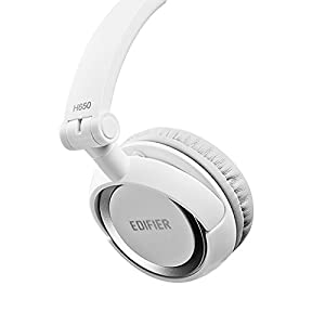 Edifier H650 Hi-Fi On-Ear Headphones - Noise-isolating Foldable and Lightweight Headphone - Fit Adults and Kids - White