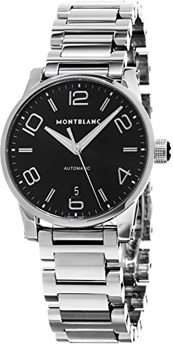 Montblanc Timewalker Date Automatic Men's Black Dial Stainless Steel Swiss Watch 105962