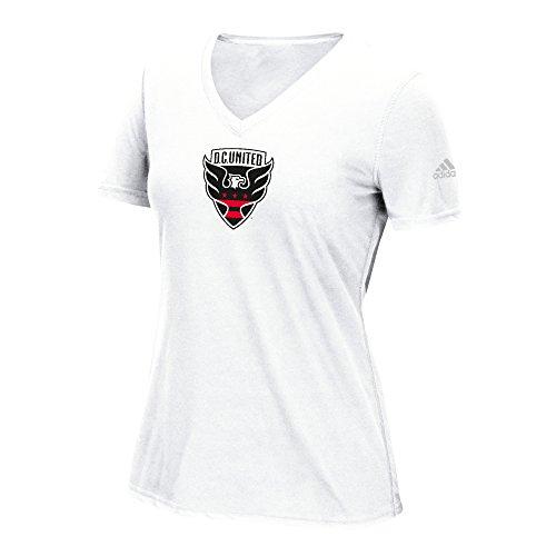 MLS D.C. United Women's Phase Hat Hook Ultimate Short Sleeve V Tee, Large, White